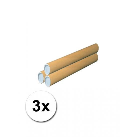 3 Kartonnen hobby koker 43 cm