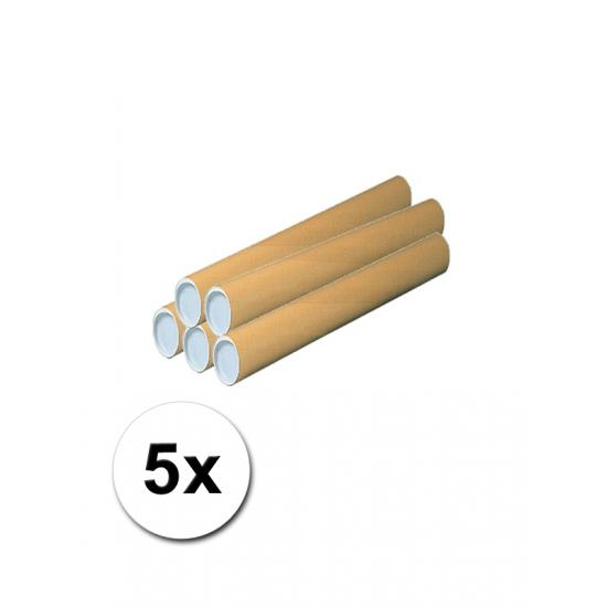 5 kartonnen hobby kokers 50 cm