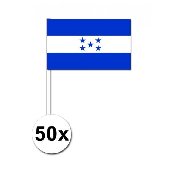 50 Honduras zwaaivlaggetjes 12 x 24 cm
