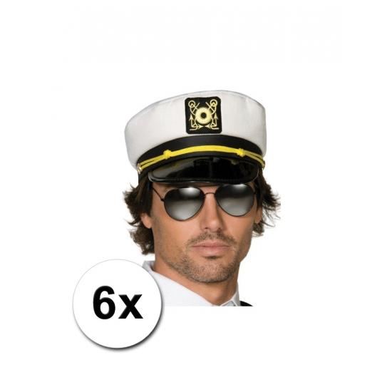 6 kapiteins petten voor volwassenen