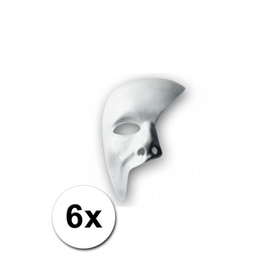 6 witte maskers phantom of the opera