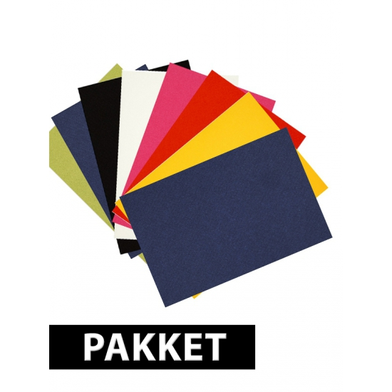 A4 hobby karton basis kleuren 8 stuks