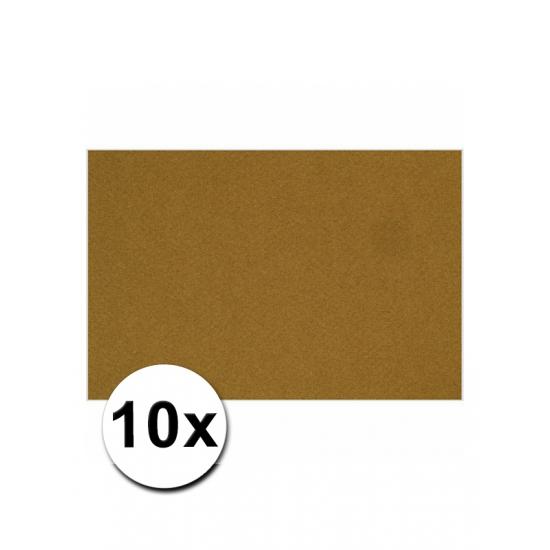 A4 hobby karton bruin 10 stuks