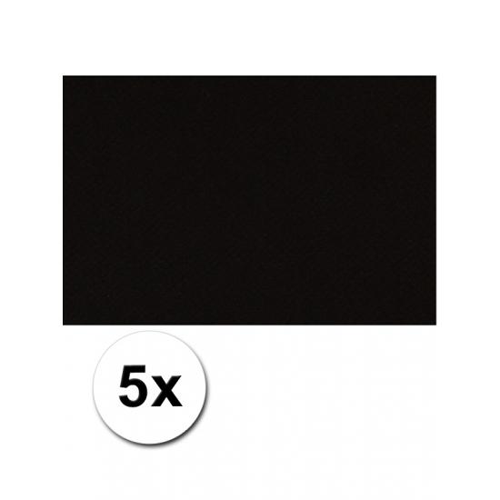 A4 hobby karton zwart 5 stuks