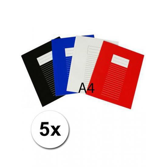 A4 lijntjes schriften 5x