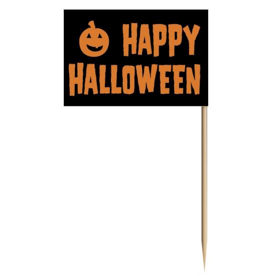 Cocktailprikkers Happy Halloween