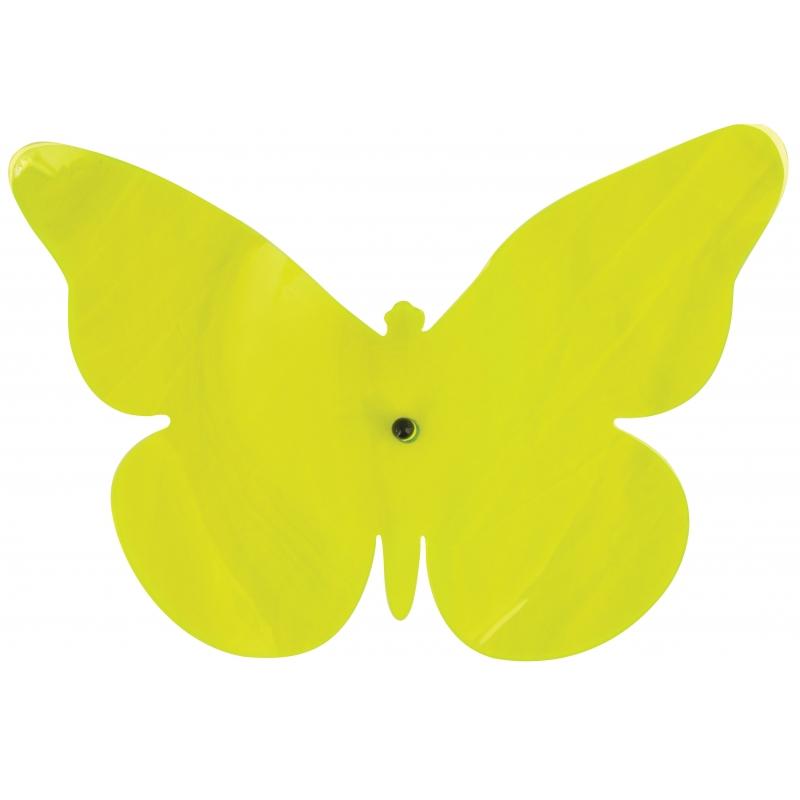 Decoratie muur vlinder groen 25 cm