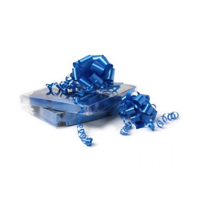Decoratie strik kobalt blauw