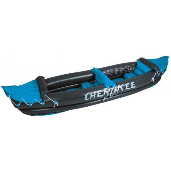 Donkergrijze opblaasbare kano