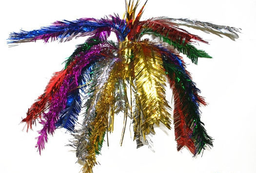 Glitter decoratie hanger multi color 60 cm