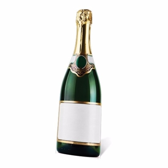 Groot decoratie bord Champagne