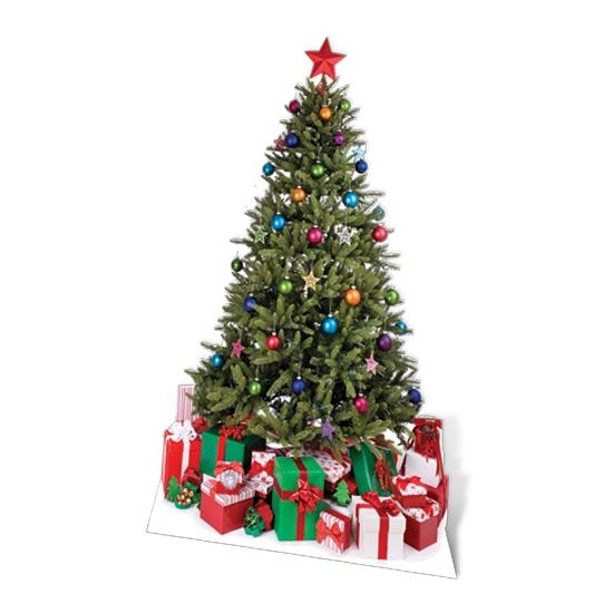 Groot decoratie bord Kerstboom