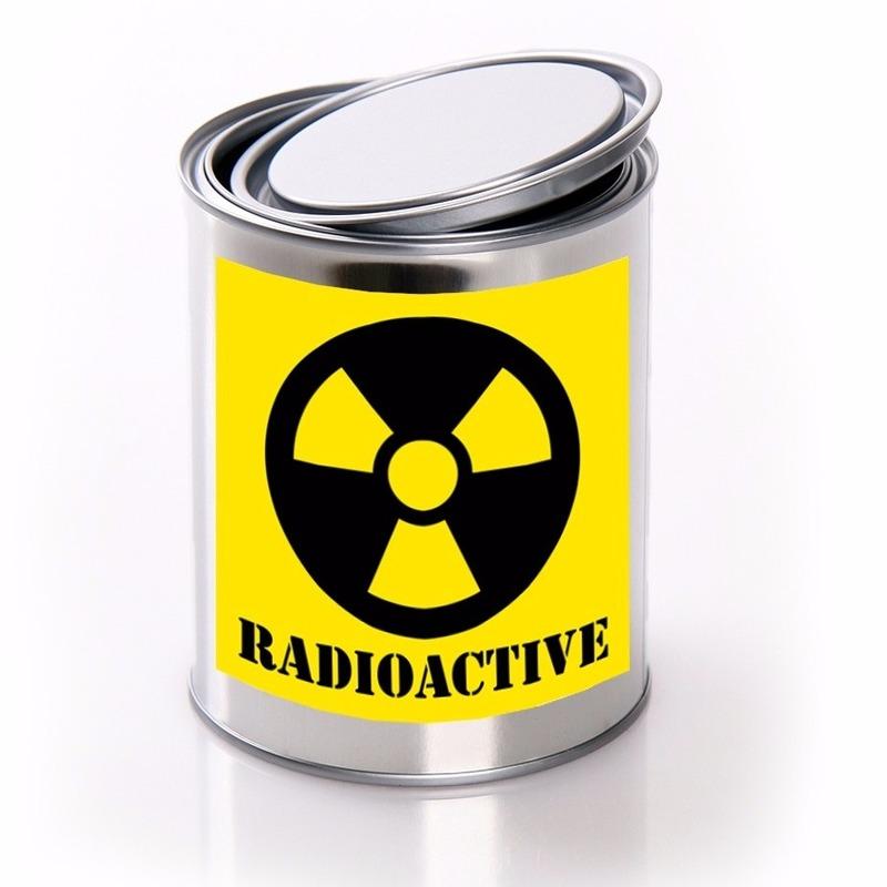 Halloween - Blik met radioactief gif