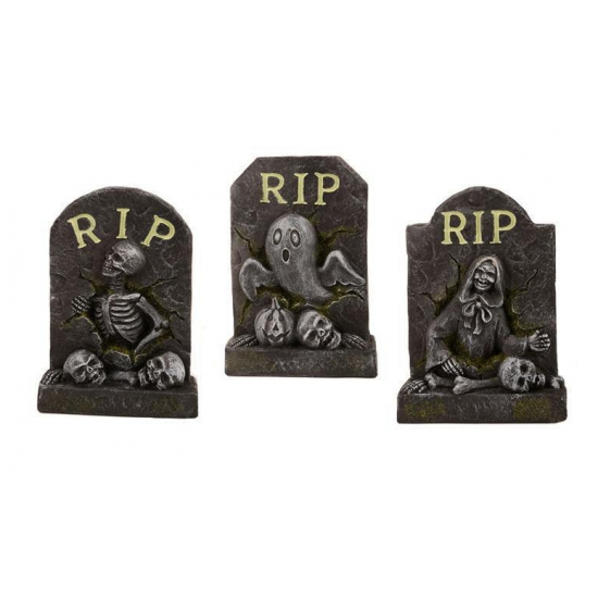 Halloween Decoratie Mini Grafsteen Rip Bellatio kopen