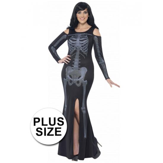 Halloween - Grote maten skelet jurk voor dames