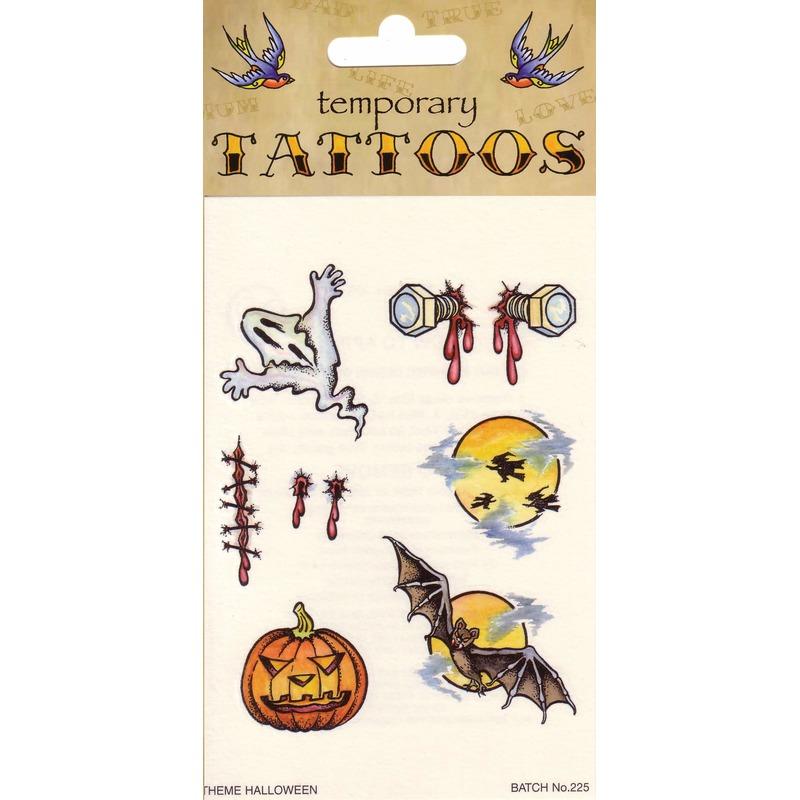 Halloween - Halloween tattoos 6 stuks