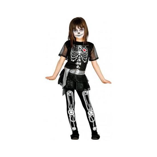 Halloween - Juwelen skelet jurkje voor meisjes
