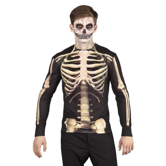 Halloween - Shirt skelet kleding opdruk heren