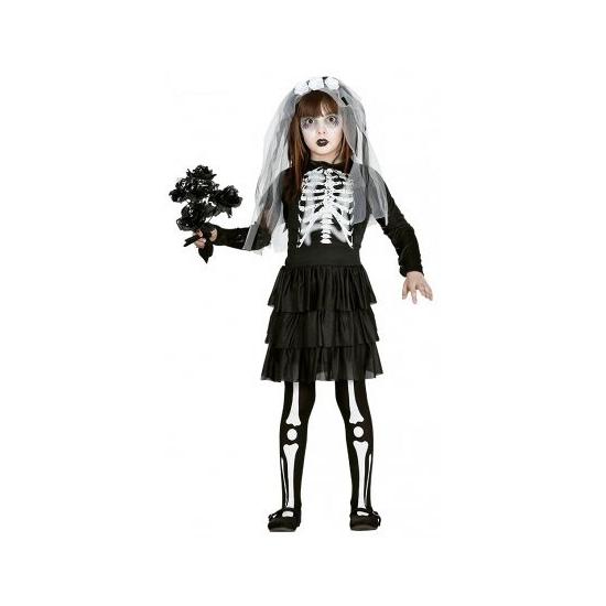 Halloween - Skelet bruidsjurk voor meisjes