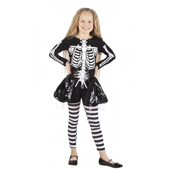 Halloween - Skelet kostuum voor meisjes