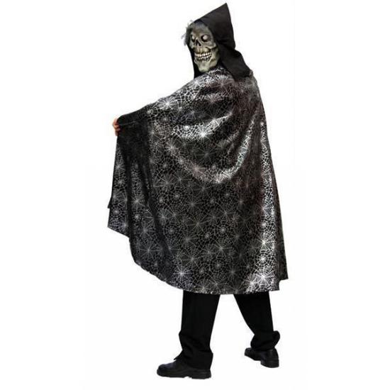 Halloween - Spinnenweb cape voor volwassenen