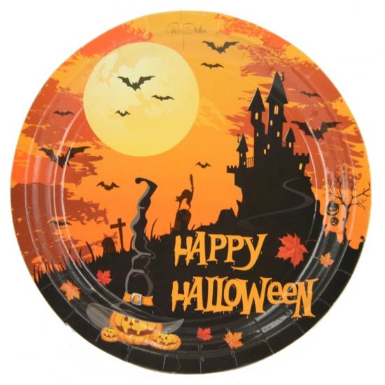 Happy Halloween bordjes 10 stuks
