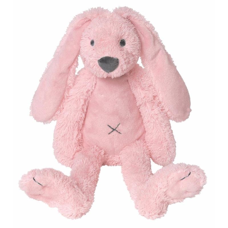 Roze pluche konijn knuffel Richie