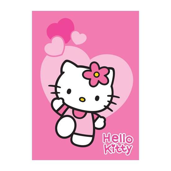 Hello Kitty speelkleed hartjes 95 x 133 cm