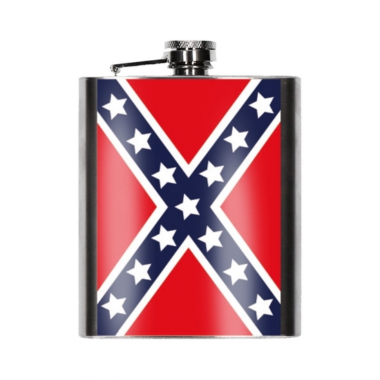 Heupfles USA rebel vlag 200 ml