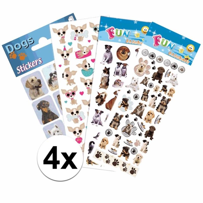 Honden kinder stickers pakket