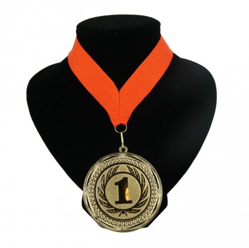 Kampioensmedaille nr. 1 aan oranje lint