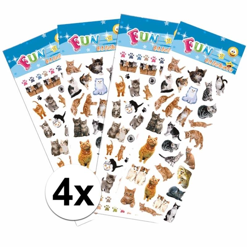 Katten kinder stickers pakket