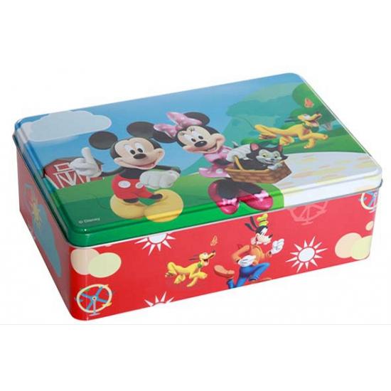 Mickey en Minnie Mouse blik