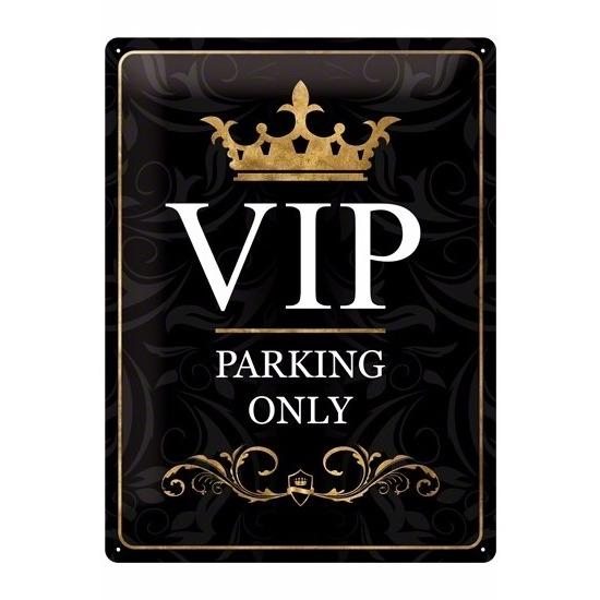 Muurplaatje VIP parking van metaal