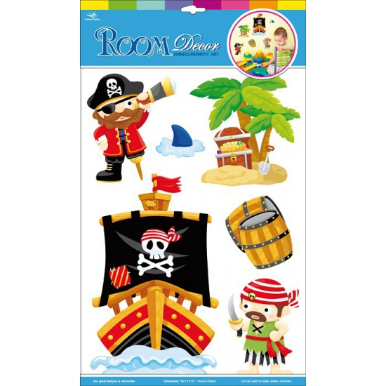 Muurstickers piraten