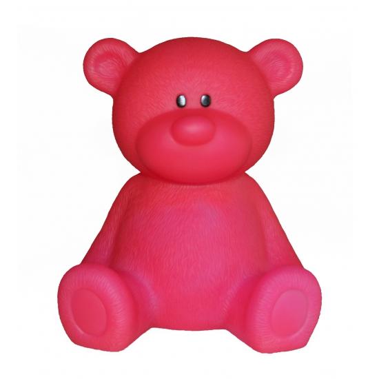 Nachtlampje beer roze 18 cm