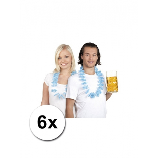 Oktoberfest 6 Beieren Hawaii krans blauw/wit