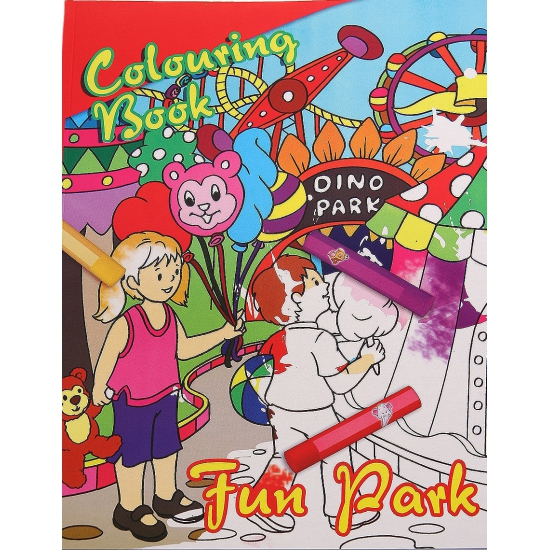 Pretpark kleurboek