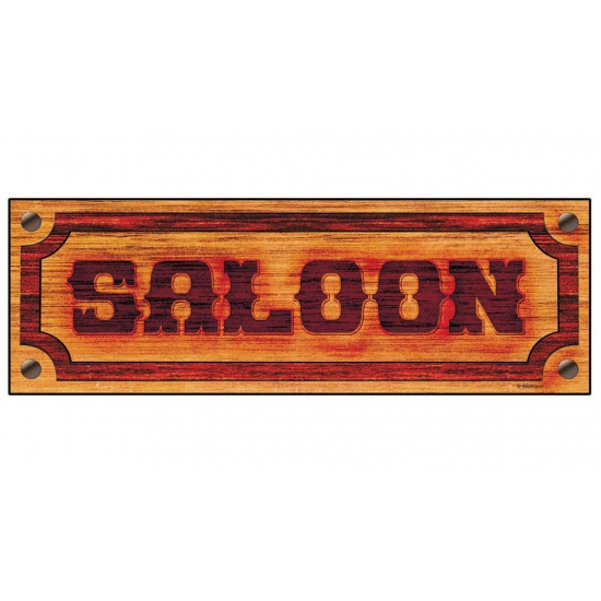 Saloon bord met de tekst Saloon