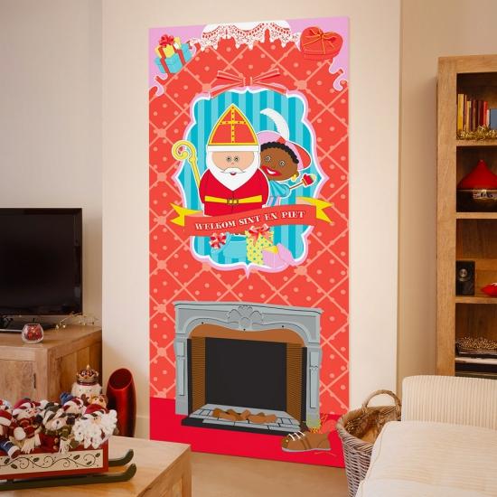 Wanddecoratie Keuken : Sinterklaas wanddecoratie 80 x 180 cm. Deze wanddecoratie poster met