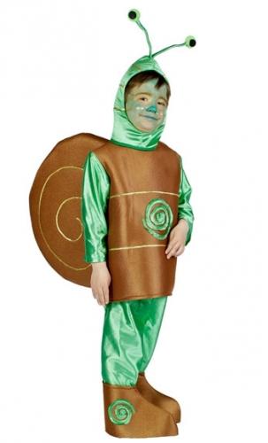 Slak kostuum voor kinderen. leuk slakken kostuum voor kinderen in de kleur bruin met groen. het kostuum bevat ...
