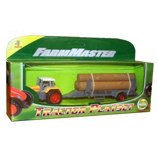Speelgoed tractor geel