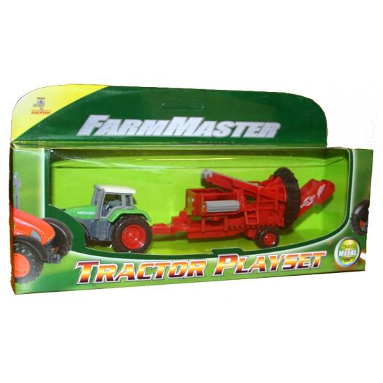 Speelgoed tractor groen