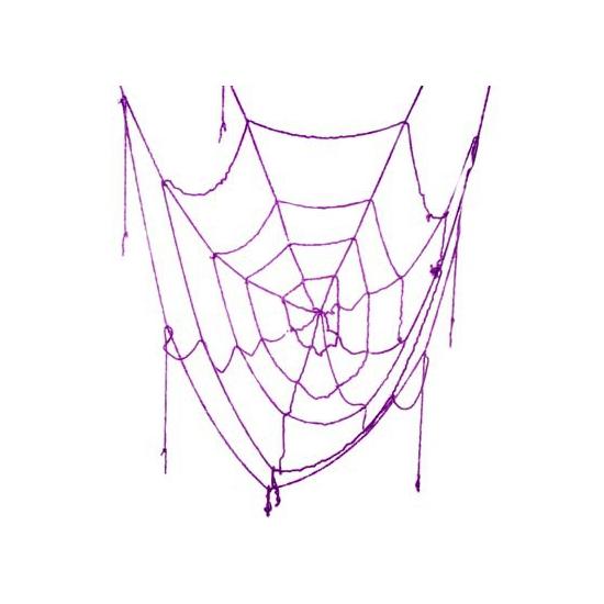 Spinnenweb paars 160 cm