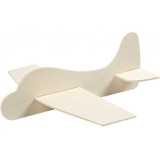 Vliegtuig hout 21.5x25.5 cm