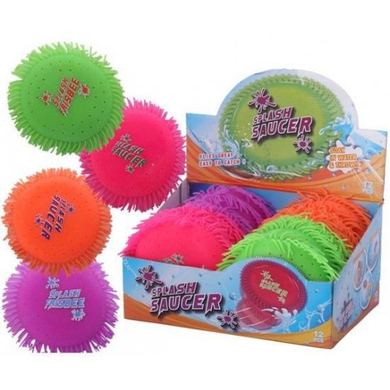 Water frisbee roze 16 cm