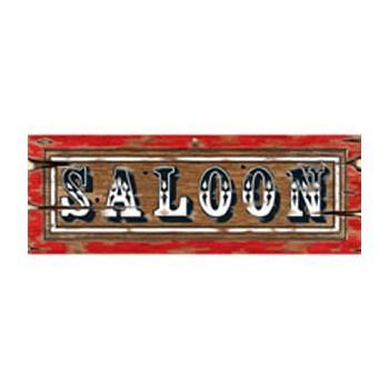 Western saloon decoratie bord 55 x 20 cm
