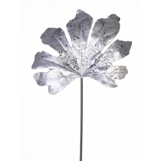 Zilver Aralia Blad Met Glitters 55 Cm Bellatio kopen