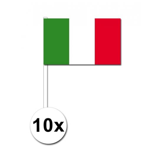 10 zwaaivlaggetjes Italie 12 x 24 cm