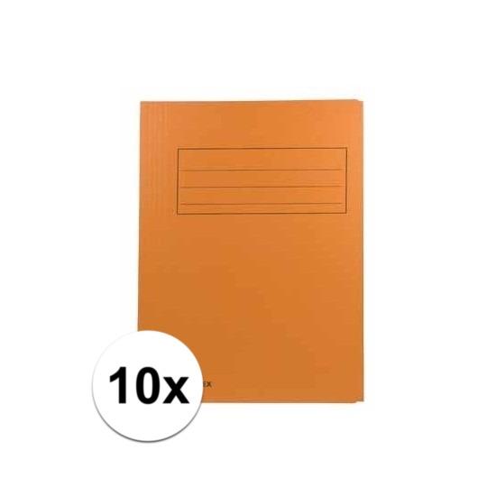 10x dossiermappen 24 x 35 cm oranje